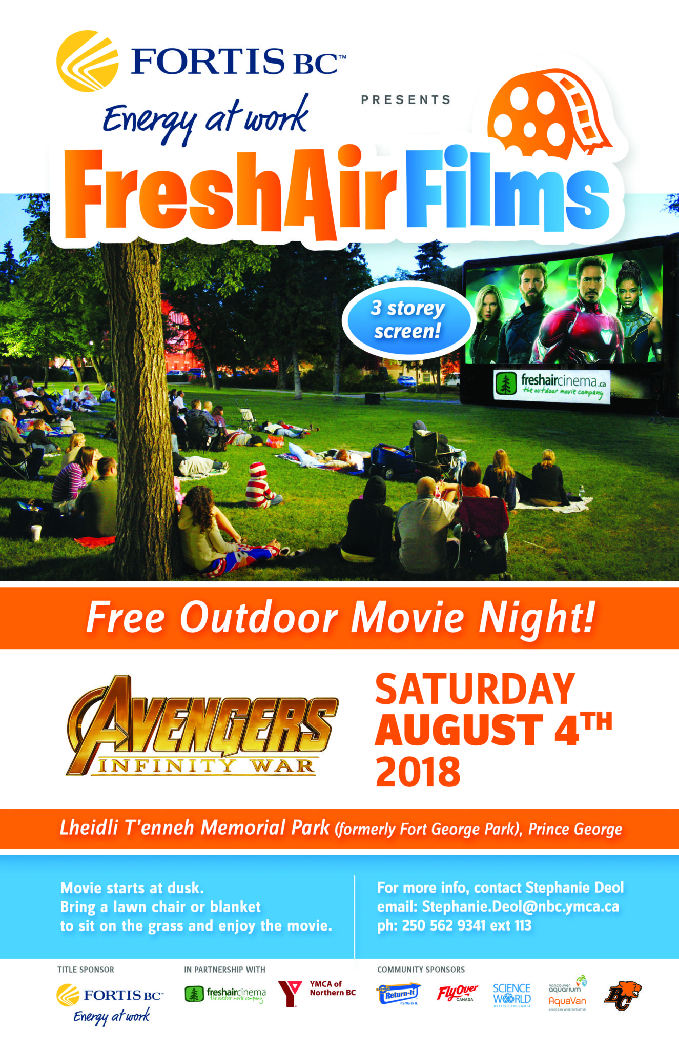 movie in the park ymca of northern bc